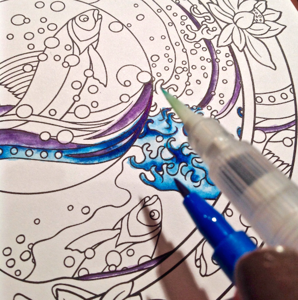 Coloring Book with PITT Artist Pens - Faber-Castell Design Memory Craft
